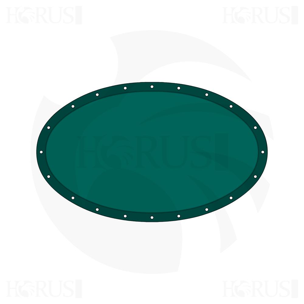 Bâche plate ovale sur mesure